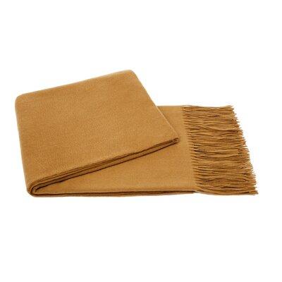 Wool Blend Throw Color: Nubuck