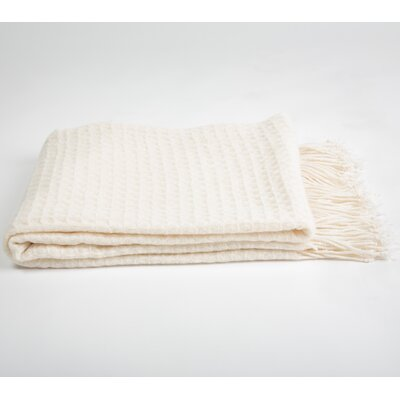 Cashmere and Merino Wool Blend Throw Color: Creme