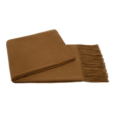 Water Weave Cashmere Throw Color: Camel