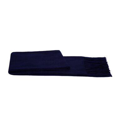 Water Weave Cashmere Throw Color: Navy