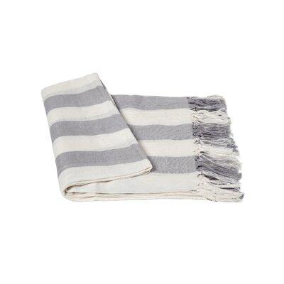 Stripe Linen Throw Blanket