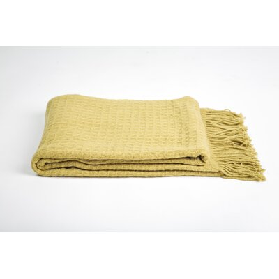 Cashmere and Merino Wool Blend Throw Color: Celery