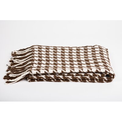 Cashmere & Merino Wool Throw Blanket Color: Cappucino / Creme