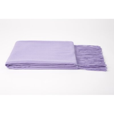 Wool Blend Throw Color: Lavender