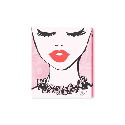 'Classy Lips' Graphic Art Print on Canvas Size: 16