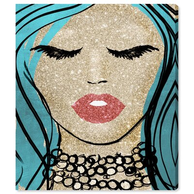 'Mermaid Vibes Barbie' Graphic Art Print on Canvas Size: 16