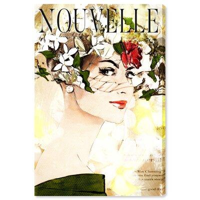 'Nouvelle' Graphic Art Print on Canvas Size: 15