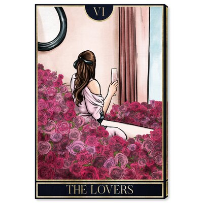 'The Lovers Mystic' Graphic Art Print on Canvas Size: 15