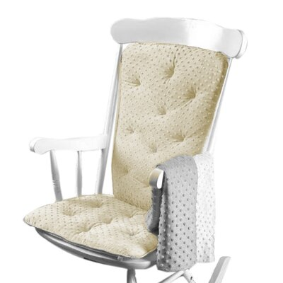 Heavenly Soft Rocking Chair Cushion Color: Ivory