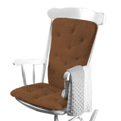 Heavenly Soft Rocking Chair Cushion Color: Chocolate