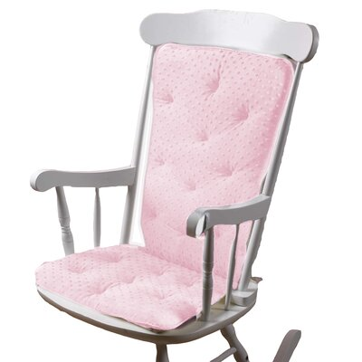 Heavenly Soft Rocking Chair Cushion Color: Pink