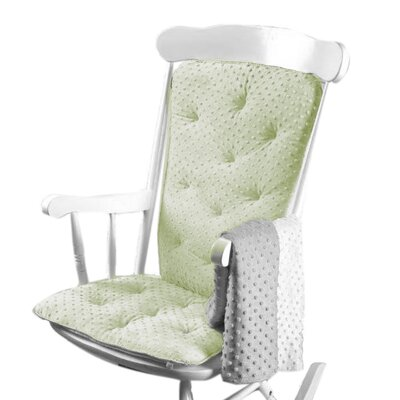 Heavenly Soft Rocking Chair Cushion Color: Sage