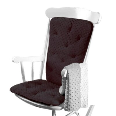 Heavenly Soft Rocking Chair Cushion Color: Black
