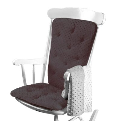 Heavenly Soft Rocking Chair Cushion Color: Gray