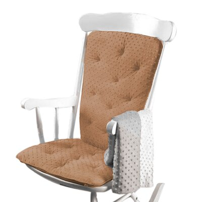Heavenly Soft Rocking Chair Cushion Color: Camel