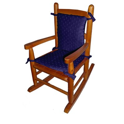 Heavenly Soft Junior Rocking Chair Cushion Fabric: Navy