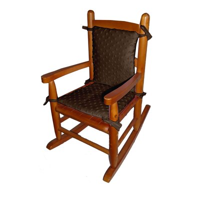 Heavenly Soft Junior Rocking Chair Cushion Fabric: Brown