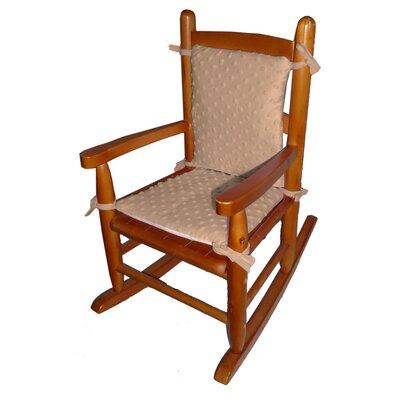 Heavenly Soft Junior Rocking Chair Cushion Fabric: Camel