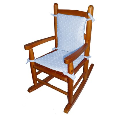 Heavenly Soft Junior Rocking Chair Cushion Fabric: Blue