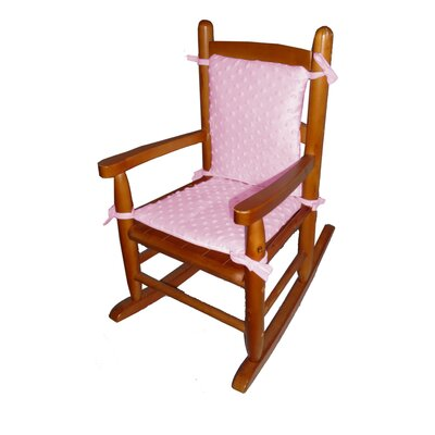Heavenly Soft Junior Rocking Chair Cushion Fabric: Pink