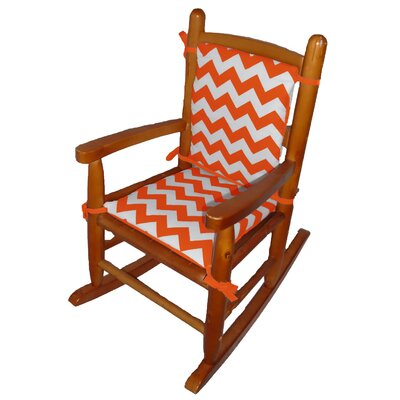 Junior Rocking Chair Cushion Fabric: Orange