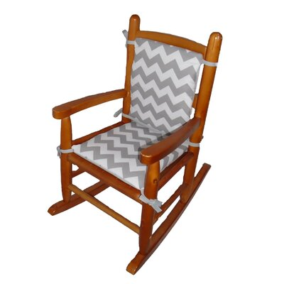 Junior Rocking Chair Cushion Fabric: Grey