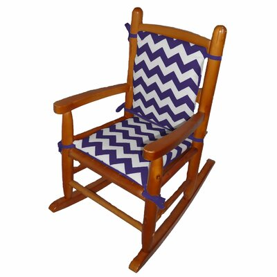 Junior Rocking Chair Cushion Fabric: Plum
