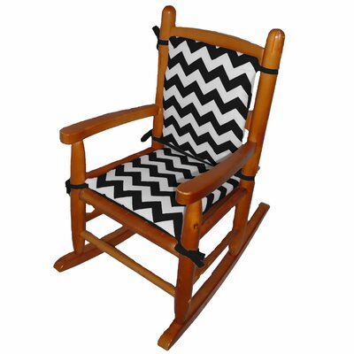 Junior Rocking Chair Cushion Fabric: Black
