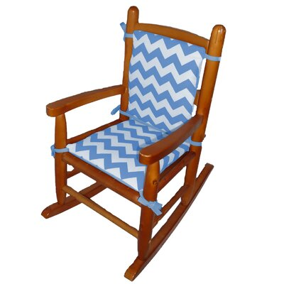 Junior Rocking Chair Cushion Fabric: Blue