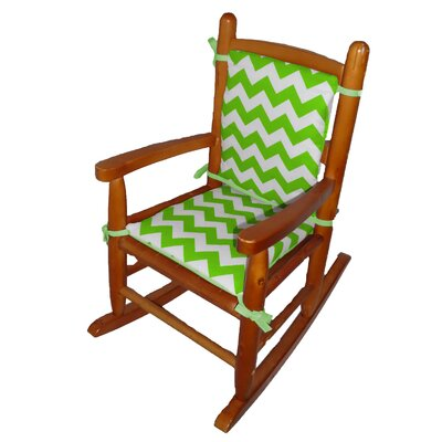 Junior Rocking Chair Cushion Fabric: Green Apple