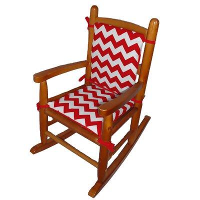 Junior Rocking Chair Cushion Fabric: Red