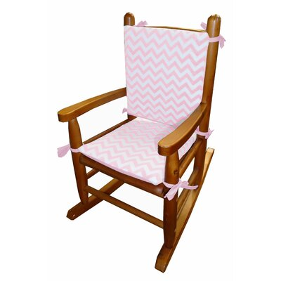 Minky Rocking Chair Cushion Fabric: Pink