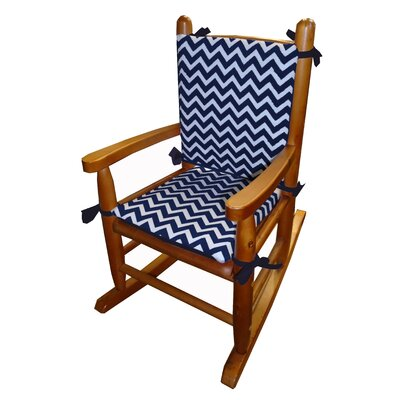 Minky Rocking Chair Cushion Fabric: Navy