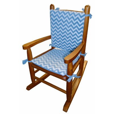 Minky Rocking Chair Cushion Fabric: Blue