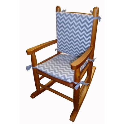 Minky Rocking Chair Cushion Fabric: Gray