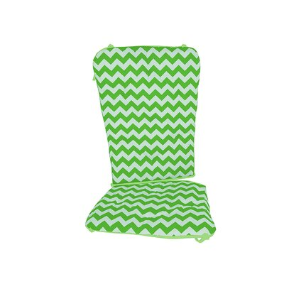 Chevron Rocking Chair Cushion Fabric: Green
