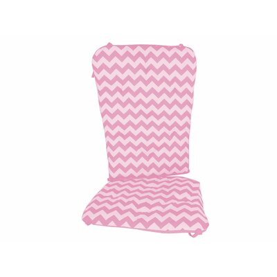 Chevron Rocking Chair Cushion Fabric: Pink