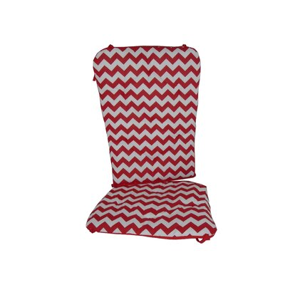 Chevron Rocking Chair Cushion Fabric: Red