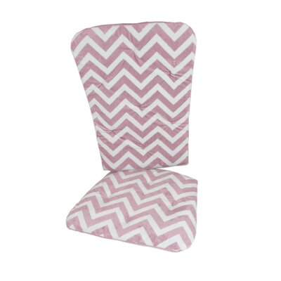 Minky Chevron Rocking Chair Cushion Fabric: Pink