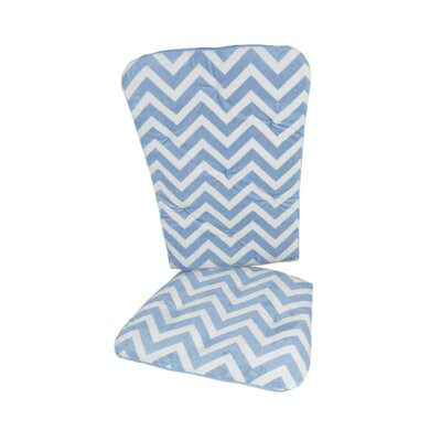Minky Chevron Rocking Chair Cushion Fabric: Blue