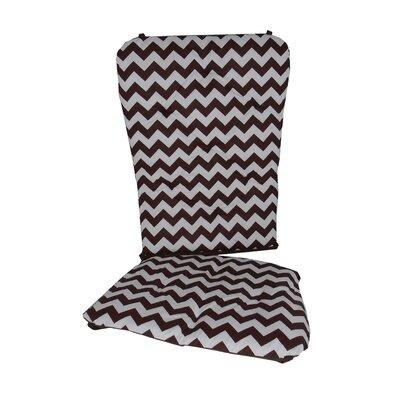 Chevron Rocking Chair Cushion Fabric: Brown