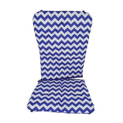 Chevron Rocking Chair Cushion Fabric: Plum