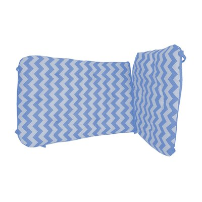 Chevron Rocking Chair Cushion Fabric: Blue