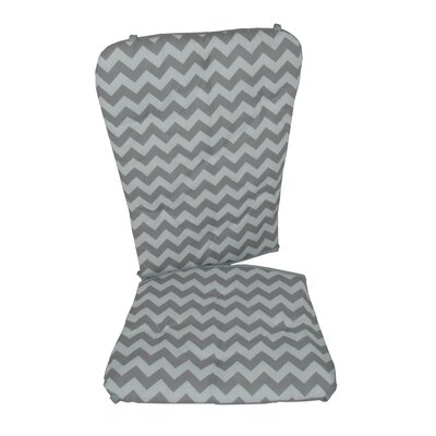 Chevron Rocking Chair Cushion Fabric: Gray