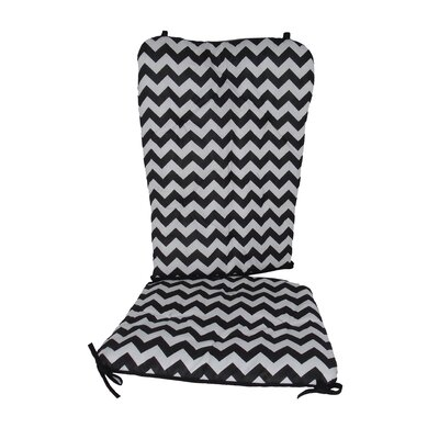 Chevron Rocking Chair Cushion Fabric: Black