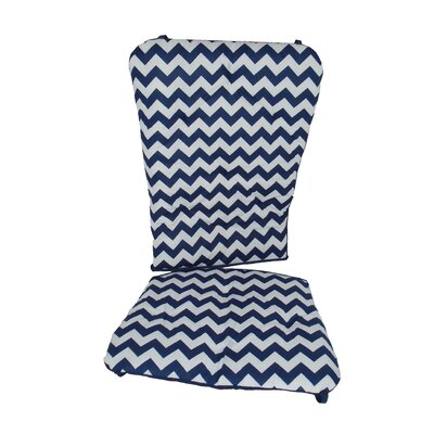Chevron Rocking Chair Cushion Fabric: Navy