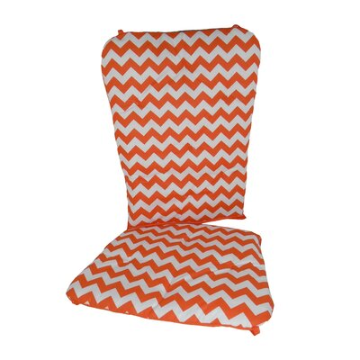Chevron Rocking Chair Cushion Fabric: Orange