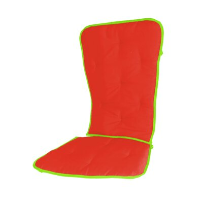 Solid Two Tone Rocking Chair Cushion Fabric: Orange/Apple