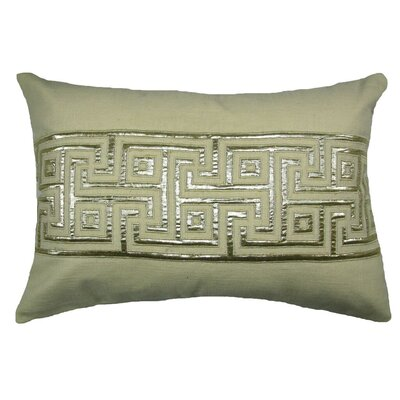 Key Lurex Throw Pillow Color: Ivory/Silver