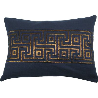 Key Lurex Throw Pillow Color: Navy/Copper